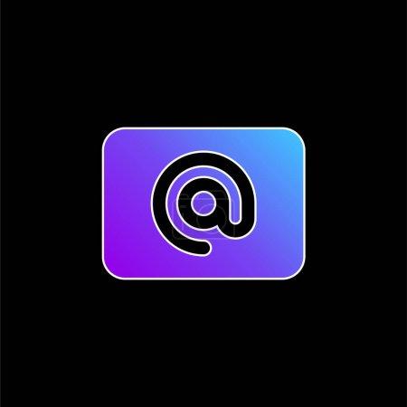 Illustration pour Au signe bleu gradient vecteur icône - image libre de droit