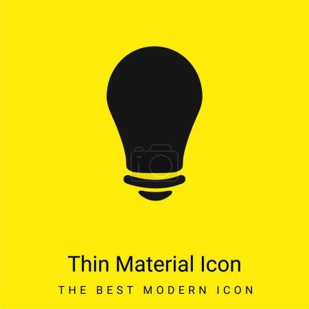 Illustration for Black Lightbulb minimal bright yellow material icon - Royalty Free Image