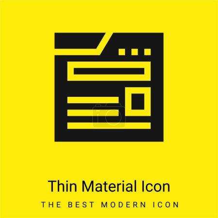 Foto de Blogging icono de material amarillo brillante mínimo - Imagen libre de derechos