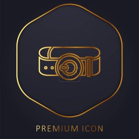 Illustration pour Ceinture ligne dorée logo premium ou icône - image libre de droit