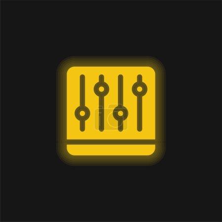 Adjust yellow glowing neon icon
