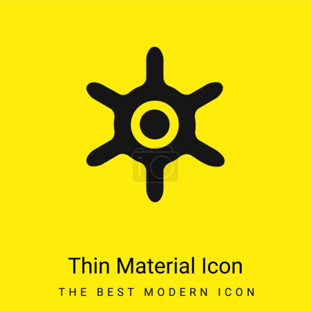 Boat Wheel minimal bright yellow material icon