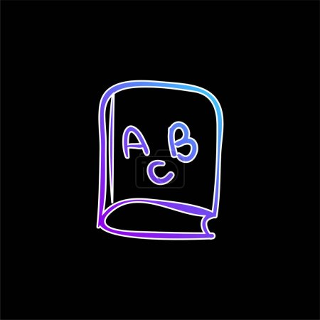 Illustration for ABC Educational Book blue gradient vector icon - Royalty Free Image