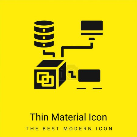 Illustration for Application minimal bright yellow material icon - Royalty Free Image
