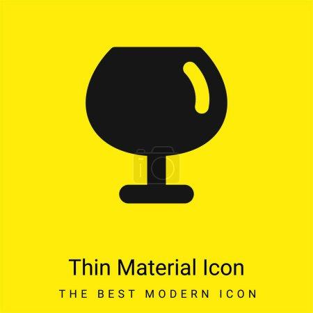 Illustration pour Grand verre à vin minime icône de matériau jaune vif - image libre de droit