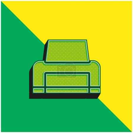 Illustration for Black Printer Green and yellow modern 3d vector icon logo - Royalty Free Image