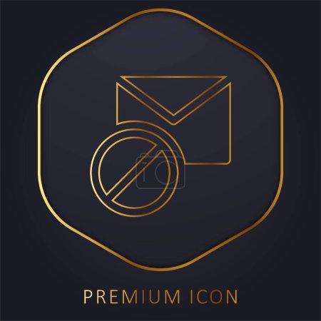 Illustration pour Bloqué ligne dorée logo premium ou icône - image libre de droit