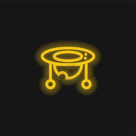 Baby Walker gelbe leuchtende Neon-Ikone