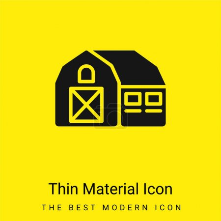 Illustration for Barn minimal bright yellow material icon - Royalty Free Image