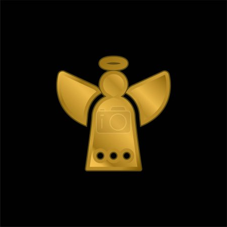 Photo for Angel gold plated metalic icon or logo vector - Royalty Free Image