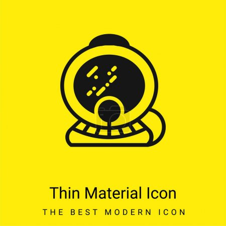 Aqualung minimal bright yellow material icon