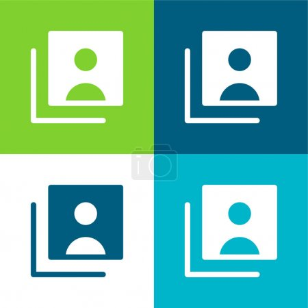 Illustration for Accounts Flat four color minimal icon set - Royalty Free Image