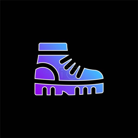 Boots blue gradient vector icon