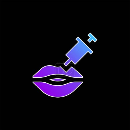 Botox blue gradient vector icon