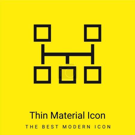 Illustration for Blocks Scheme minimal bright yellow material icon - Royalty Free Image
