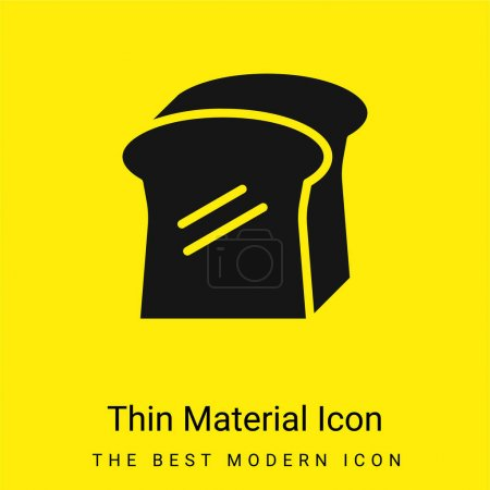 Illustration for Bread minimal bright yellow material icon - Royalty Free Image