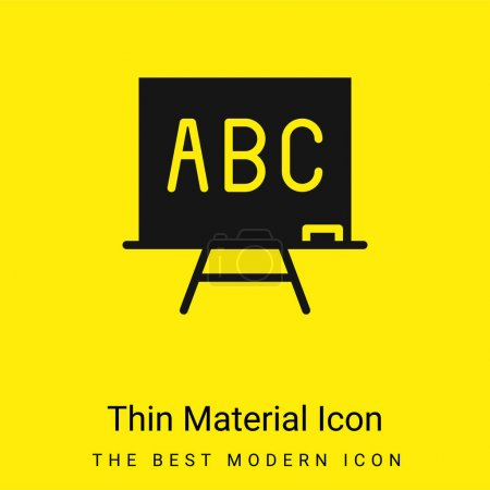 Illustration pour ABC minimal jaune vif icône matérielle - image libre de droit
