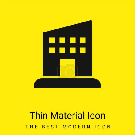 Illustration pour Icône matérielle jaune vif minimale du compartiment - image libre de droit