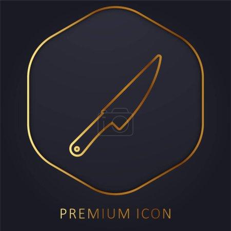 Illustration pour Big Knife ligne d'or logo premium ou icône - image libre de droit
