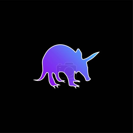Ant Eater Shape blue gradient vector icon