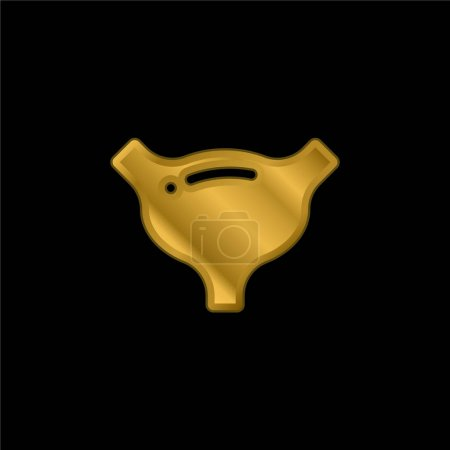 Photo for Bladder gold plated metalic icon or logo vector - Royalty Free Image