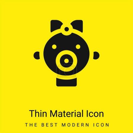 Illustration pour Bébé minimal jaune vif icône matérielle - image libre de droit