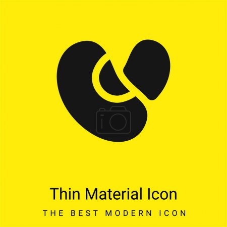 Illustration for Beans minimal bright yellow material icon - Royalty Free Image