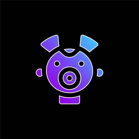 Illustration pour Bébé bleu dégradé vecteur icône - image libre de droit