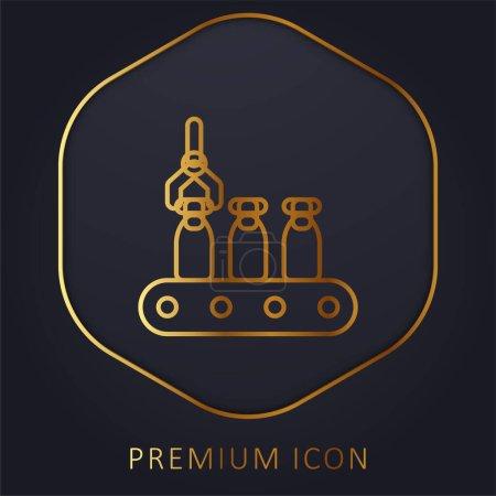 Illustration pour Ligne de montage ligne d'or logo premium ou icône - image libre de droit