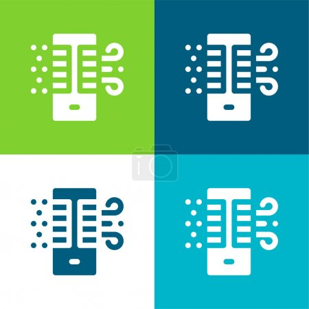Illustration for Air Purifier Flat four color minimal icon set - Royalty Free Image