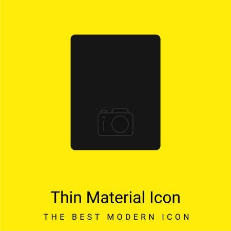 Illustration pour Noir Rectangle minimal jaune vif icône matérielle - image libre de droit