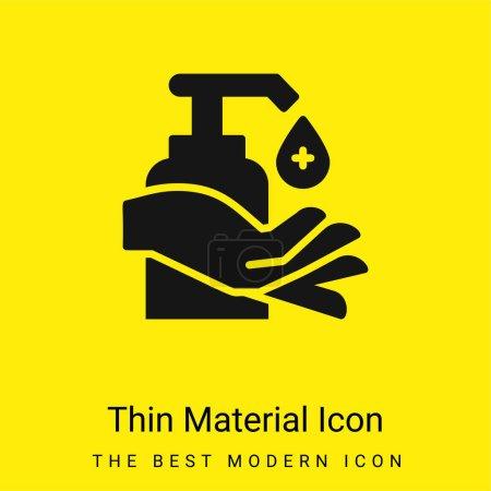 Illustration pour Icône minimale de matériau jaune vif alcool - image libre de droit
