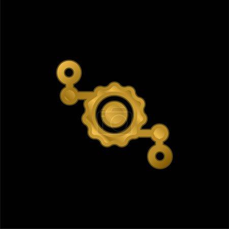 Photo pour Assemblage icône métallique plaqué or ou logo vecteur - image libre de droit