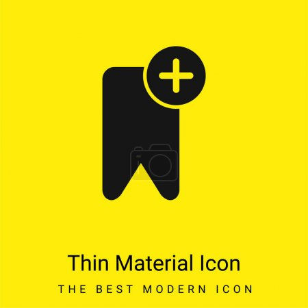 Photo for Bookmark minimal bright yellow material icon - Royalty Free Image