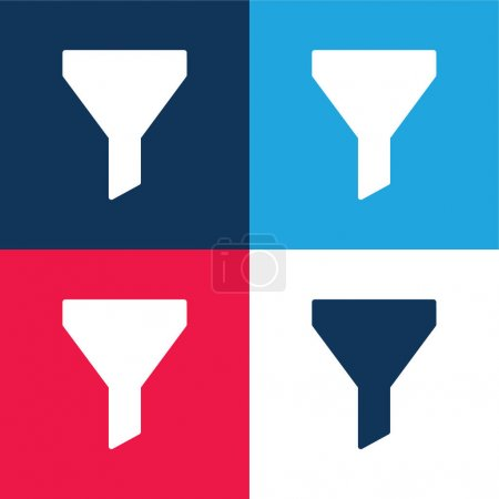 Big Funnel blue and red four color minimal icon set