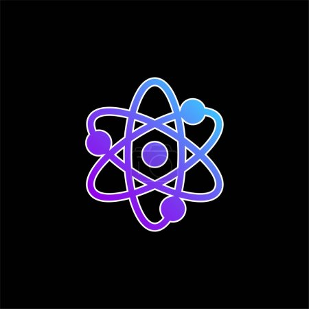 Photo for Atom blue gradient vector icon - Royalty Free Image
