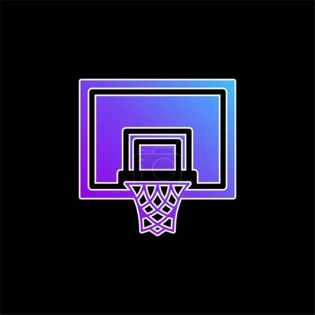 Illustration pour Icône vectorielle dégradé bleu basket-ball - image libre de droit