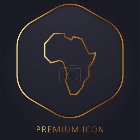 Illustration pour Afrique ligne d'or logo premium ou icône - image libre de droit