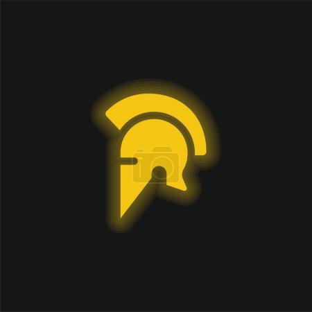 Icono de neón brillante amarillo Ares