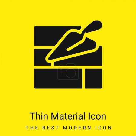 Illustration for Brick Wall minimal bright yellow material icon - Royalty Free Image