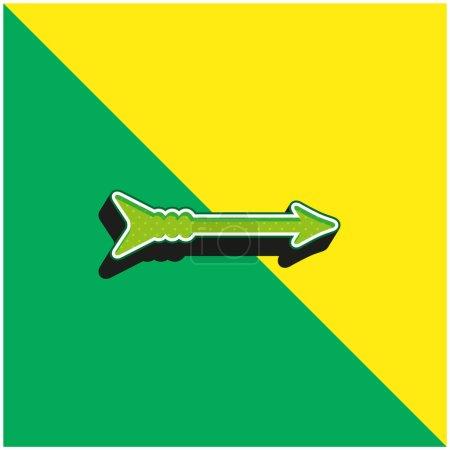 Illustration pour Flèche verte et jaune moderne logo icône vectorielle 3d - image libre de droit