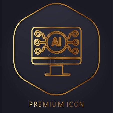 Photo for AI golden line premium logo or icon - Royalty Free Image