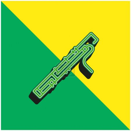 Illustration for Bassoon Green and yellow modern 3d vector icon logo - Royalty Free Image