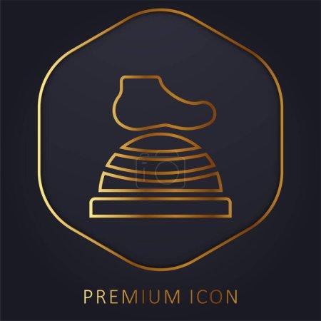 Illustration pour Bosu Ball ligne d'or logo premium ou icône - image libre de droit