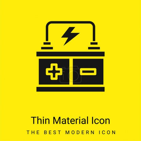 Battery minimal bright yellow material icon