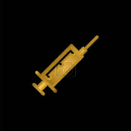 Botox gold plated metalic icon or logo vector