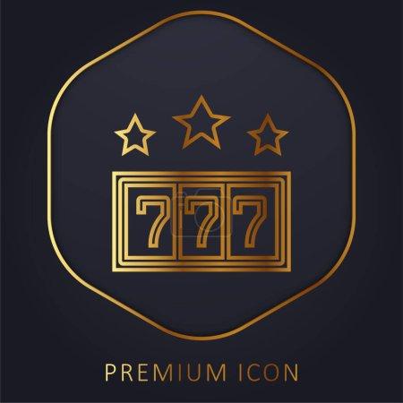 Illustration pour 777 ligne d'or logo premium ou icône - image libre de droit