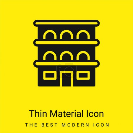 Illustration for Apartment minimal bright yellow material icon - Royalty Free Image