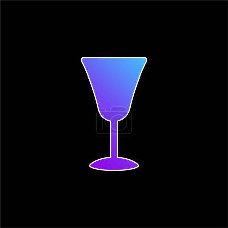 Illustration pour Big Gobelet bleu dégradé icône vectorielle - image libre de droit