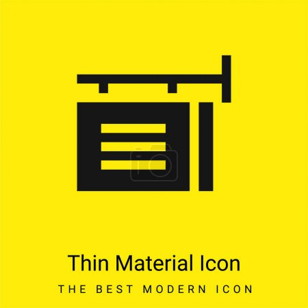 Illustration for Advertisement minimal bright yellow material icon - Royalty Free Image